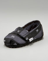 TOMS Tiny  Skull & Crossbones Slip-On