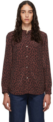 A.P.C. Burgundy Alice Blouse