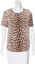 Equipment Leopard Print Silk Top