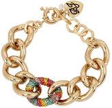Betsey Johnson Rainbow Connection Link Bracelet