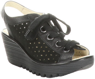 Fly London Yorl Leather Wedge Sandal
