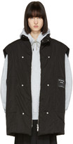 Raf Simons Black Robert Mapplethorpe Edition Oversized Bodywarmer Self Portrait Vest