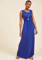 First Classic Maxi Dress in Cobalt in L
