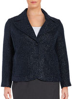 MICHAEL Michael Kors Plus Two-Button Tweed Blazer