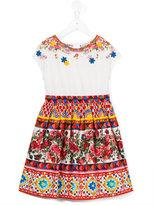 Dolce & Gabbana printed dress - kids - Cotton - 2 yrs