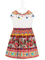 Dolce & Gabbana printed dress - kids - Cotton - 6 yrs