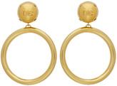 Dolce & Gabbana Gold Logoed Balls Earrings