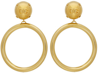 Dolce & Gabbana Gold Logoed Balls Earrings