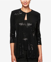 Alex Evenings Metallic-Detail Top and Jacket