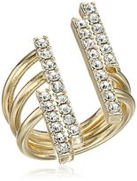 BCBGeneration Pave Bar Open Ring, Size 7