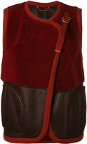 Chloé shearling panel gilet - women - Cotton/Lamb Skin - 36