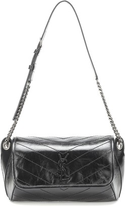 Saint Laurent Niki crinkled-leather belt bag