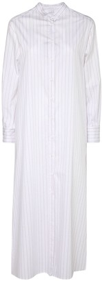 Max Mara Striped Cotton Poplin Shirt Long Dress
