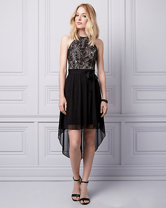 Le Château Lace Halter Dress