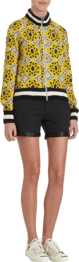 Sea Leather Trim Shorts