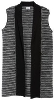 Ming Wang Women's Ribbed Tweed Vest