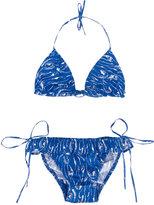 Simple wave print bikini - kids - Cotton - 2 yrs