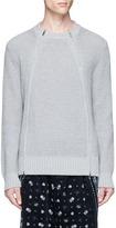 Sacai Double zip front waffle sweater