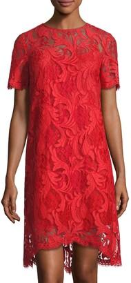 Tahari by Arthur S. Levine Women's Corded Lace Short Sheath Dress