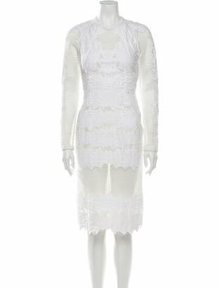 Jonathan Simkhai Lace Pattern Midi Length Dress White