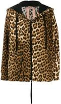 No.21 leopard print zip-front hoodie