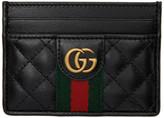 Gucci Black GG Web Card Holder