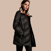 Burberry Chevron-quilted Down-filled Coat
