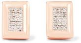 Monica Vinader Baja Deco Rose Gold Vermeil Diamond Earrings - one size
