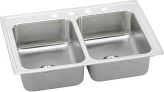 """Elkay Gourmet 33"""" L x 21"""" W Drop-In Kitchen Sink with Faucet Faucet Drillings: 5 hole"""