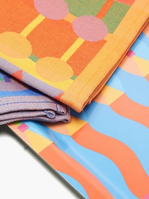Thumbnail for your product : YINKA ILORI Omi Tray And Tea Towels Set - Multi