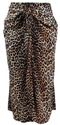 Ganni Printed silk skirt