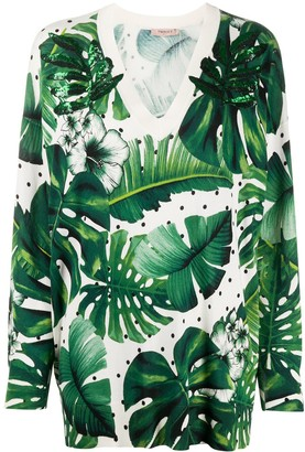 Twin-Set Tropical Print Knitted Top