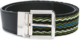 Furla Nettuno belt - men - Cotton/Calf Leather/Acetate - One Size