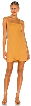 Monrow Linen Strappy Dress
