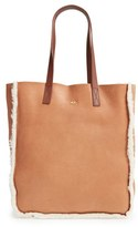 Ugg Claire Genuine Shearling Tote - Brown