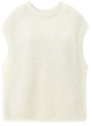 Totême Sleeveless Alpaca-blend Sweater - White