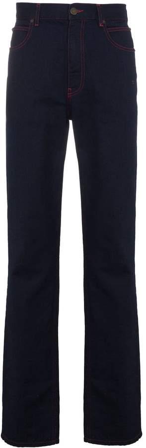 Calvin Klein Indigo and Red Contrast Stitch Jeans