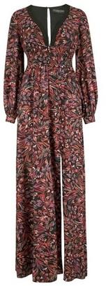 Dorothy Perkins Womens Little Mistress Multi Colour Floral Print Open Back Maxi Dress, Multi Colour