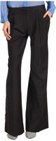Tibi Tuxedo Wide Leg Pleated Pant (Black Multi) - Apparel