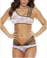 ManorGirl Beautiful Sexy Strappy Stretch Lace Triangle Bra & Panty Lingerie Set