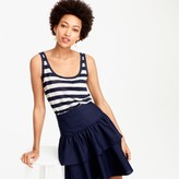 J.Crew Scoopneck linen tank top in stripe