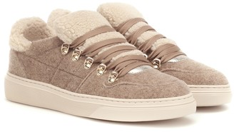 Hogan Shearling-trimmed sneakers