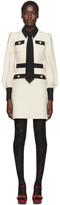 Gucci Off-White Silk Tie Dress
