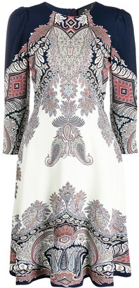 Etro Paisley Print Long-Sleeved Dress