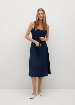 MANGO Strap dress with belt