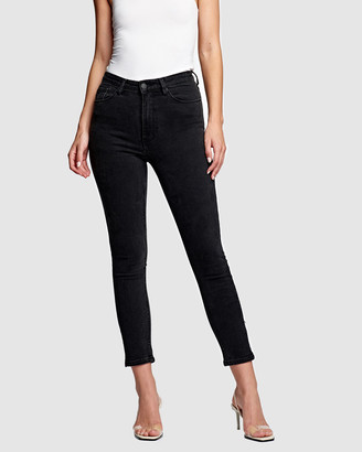 RES Denim Women's Black Crop - Harrys Hi Skinny Crop Jeans - Size One Size, 24 at The Iconic