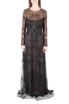 Monique Lhuillier \N Black Silk Dresses