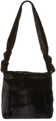 The Row Wander Small Mink Fur Bag, Black