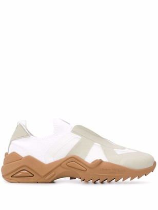 Maison Margiela Contrasting Panelled Sneakers
