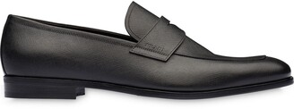 Prada Cut-Out Logo Loafers